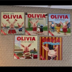 Set of 5 Olivia paperback books